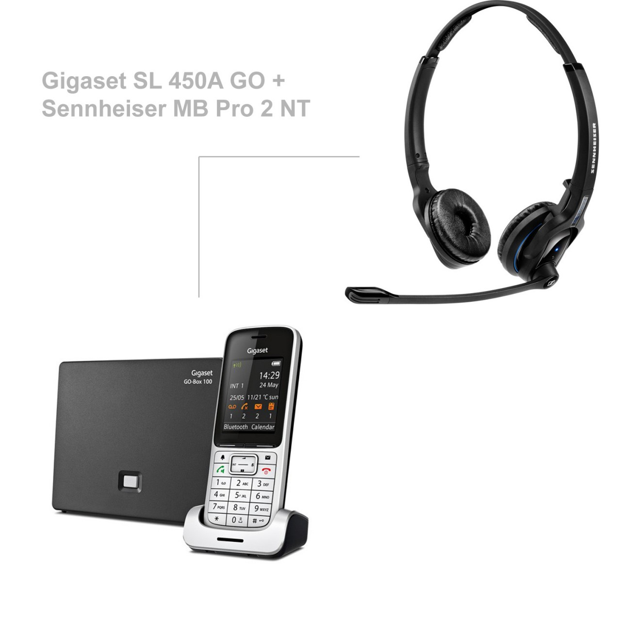 Fonkelnieuw Gigaset SL 450A GO + Sennheiser MB Pro 2 NT TR-59